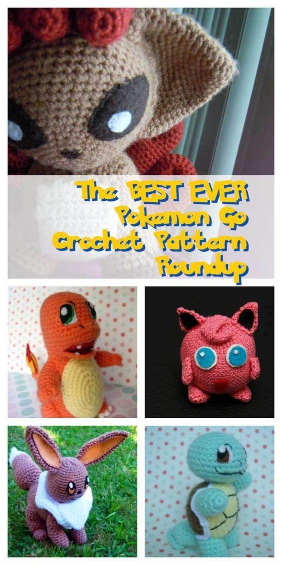 The BEST EVER Pokemon Go Crochet Amigurumi Pattern List   Pinterest