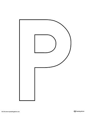 It is an image of Crazy Printable Letter P