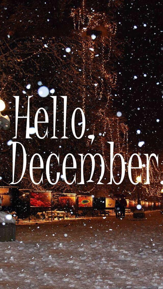 Wallpaper iPhone/hello December/winter time ⚪️ December