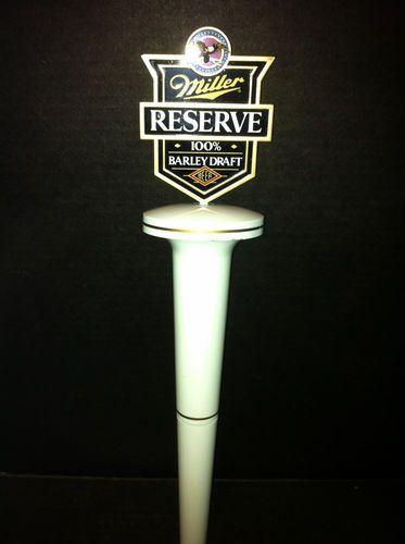 $17.99 Tee Time!!!! Miller Reserve 100 Barley Draft Golf Tee Beer Tap Handle | eBay