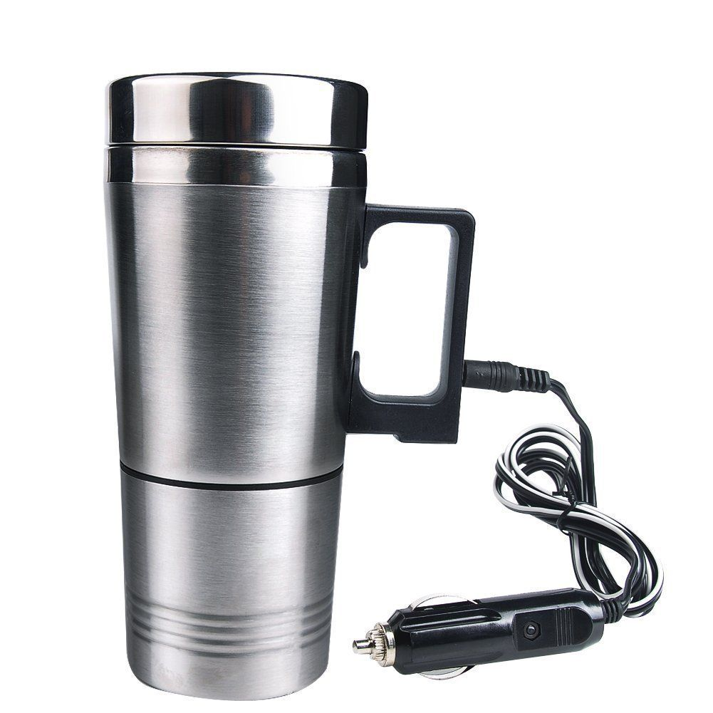Consumer Electronics 12v Smart Electric Heated Travel Coffee Mug For Car Smart Heated Coffee Warme...