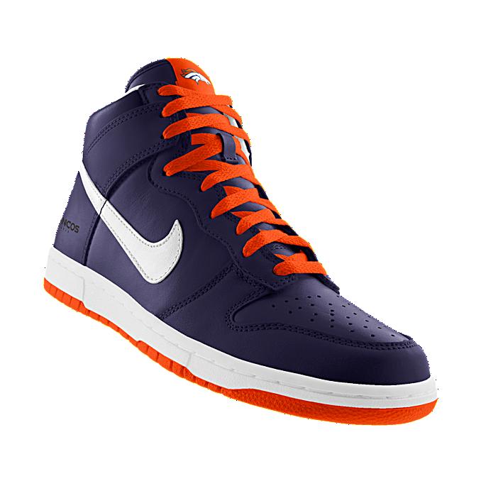 NIKEiD. Custom Nike Dunk High (NFL Denver Broncos) iD Shoe  ab21b168a