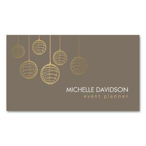 Elegant Gold Paper Lanterns Business Card Template for Event – Event Card Template