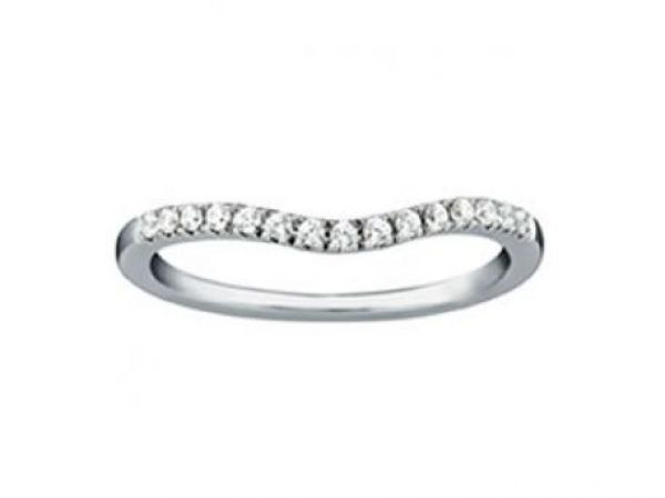 Wedding Band  $675.00 STYLE:001-110-00010  14K WG 1/6 cttw SI1-SI2 G/H http://www.theringbygoldgals.com/