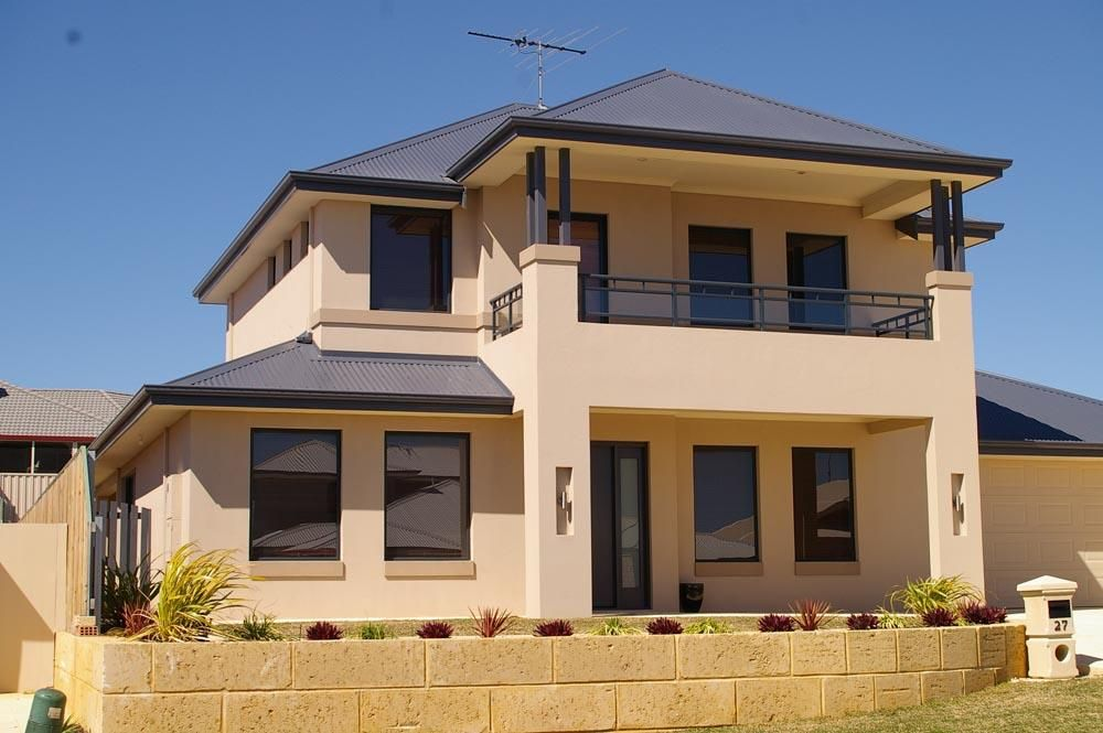 Exterior colour exteriors double storey house designs for Exterior paint ideas australia