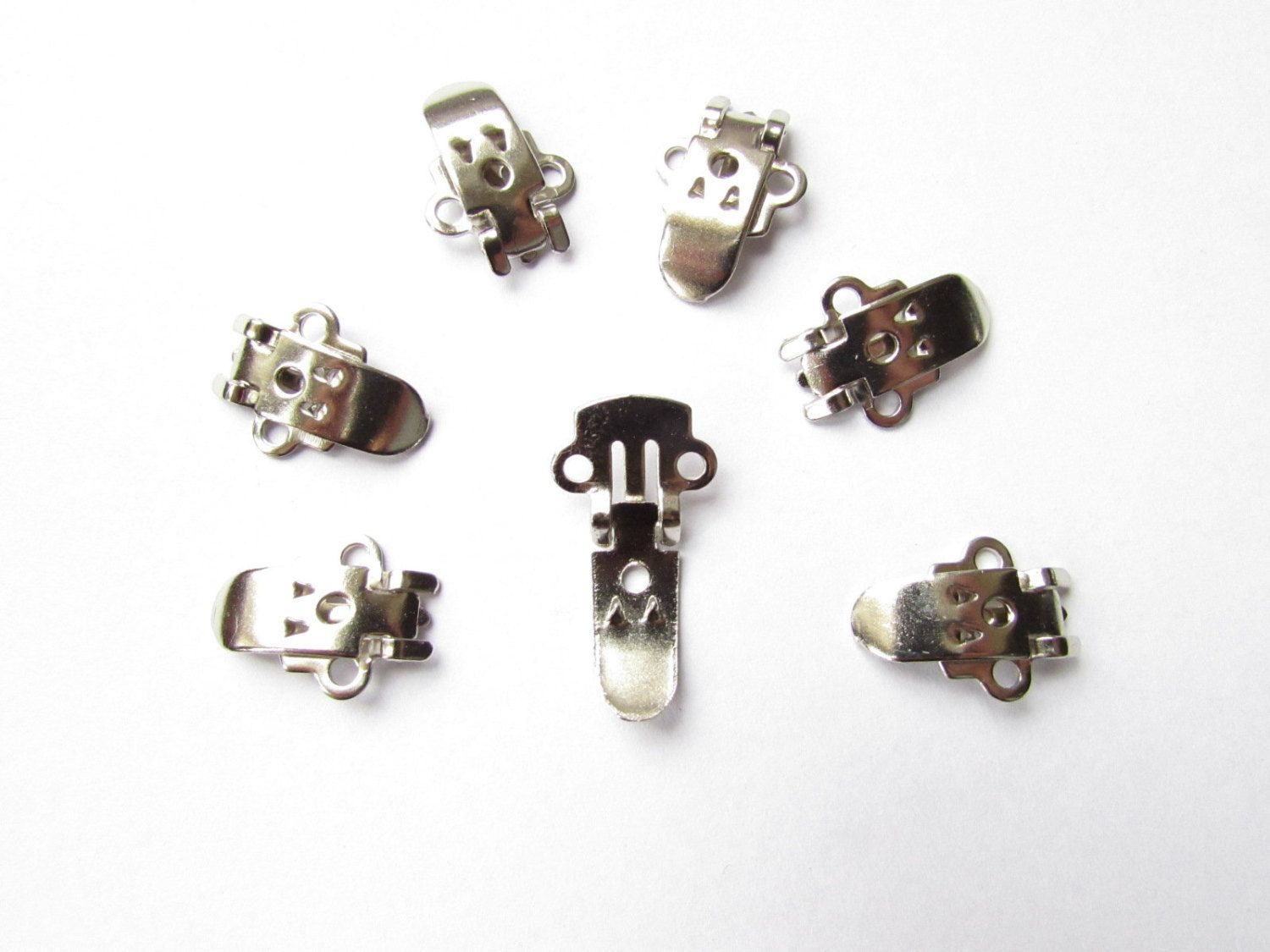 6 Blank Stainless Steel Shoe Clips - DIY Shoe Clips - Mke your own shoe clips - Silver-tone blank shoe clips - Shoe Makeover - Shoeclips UK