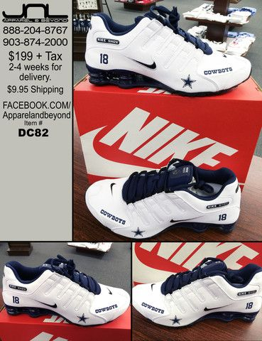 Custom Dallas Cowboys Nike Shox Team Colors – JNL Apparel