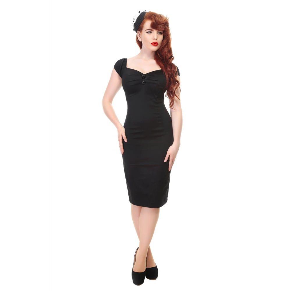 Jersey-Kleid mit Puffärmeln | Rockabilly