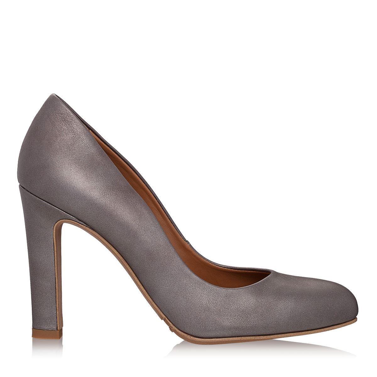 Imagine Pantofi dama gri 4117 piele laminata