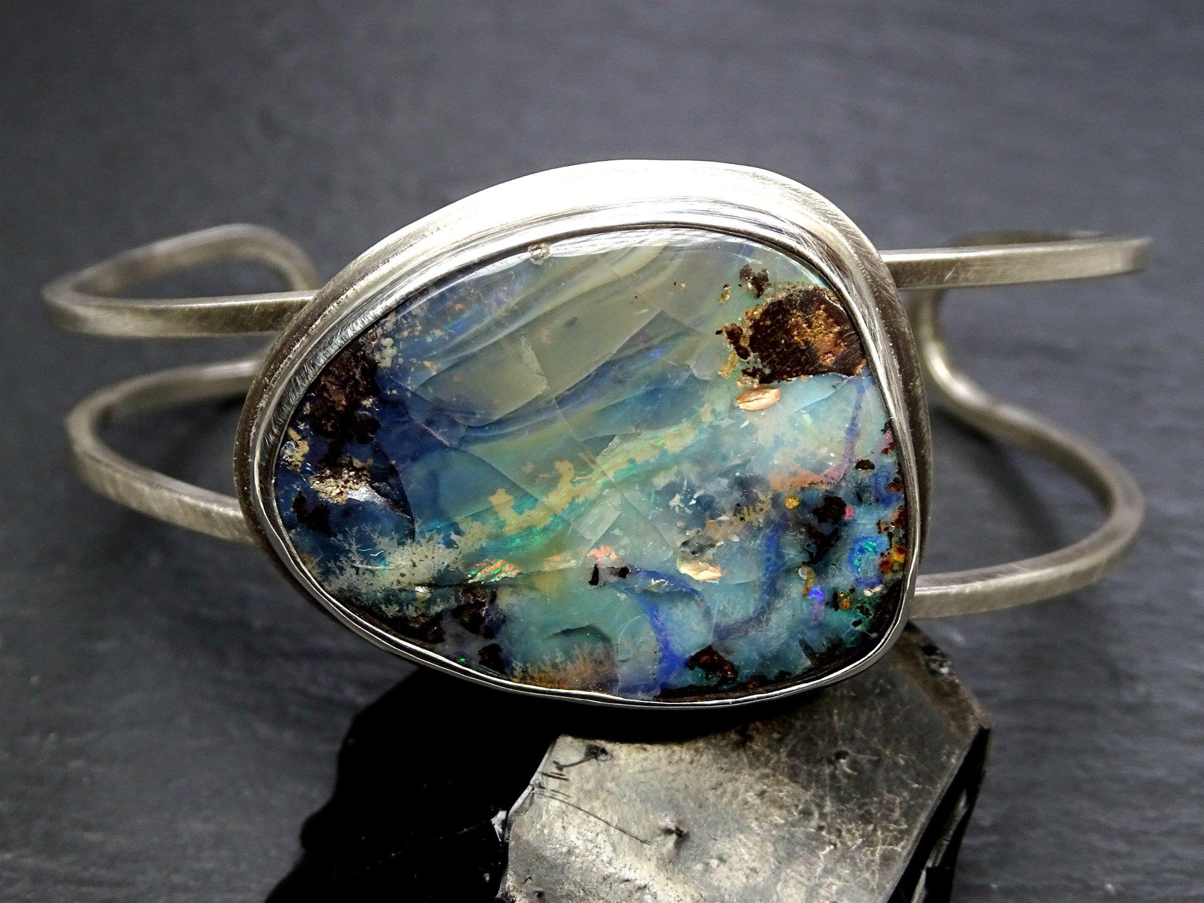 Reserved For A Big Opal Bracelet Silver Opal Cuff Bracelet Etsy Opal Bracelet Silver Australian Opal Jewelry Opal Cuff Bracelet