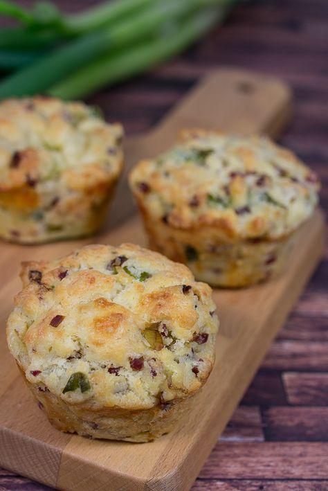 Herzhafte Lauch Speck Muffins Rezept Essen Herzhaft Lecker Und