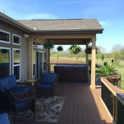 Columbus, OH, Open Porch with Hot Tub | Patio, Porch patio ...