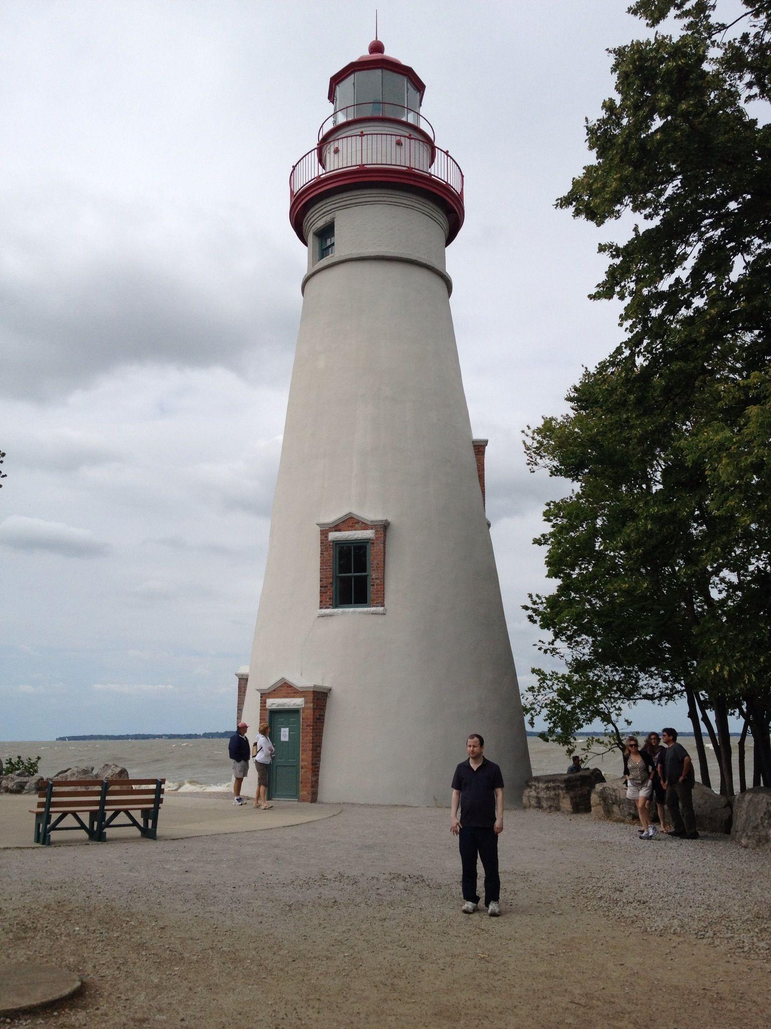 Lighthouse Marblehead Near Sandusky Ohio USA windy day