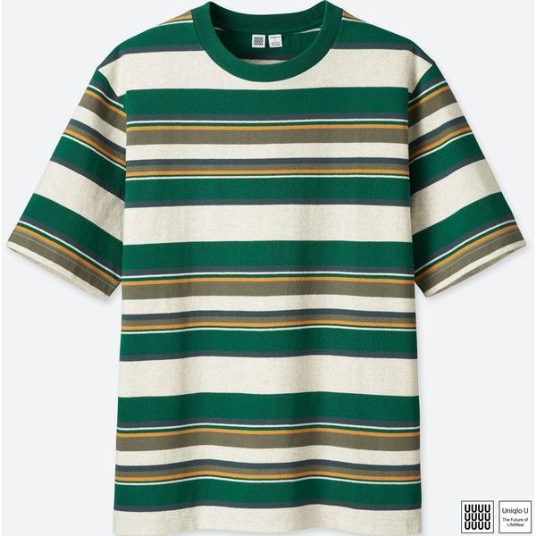 1d2c2e20 UNIQLO Men's U Striped Short-sleeve T-Shirt (5.964 KWD) ❤ liked on Polyvore  featuring men's fashion, men's clothing, men's shirts, men's t-shirts,  green, ...