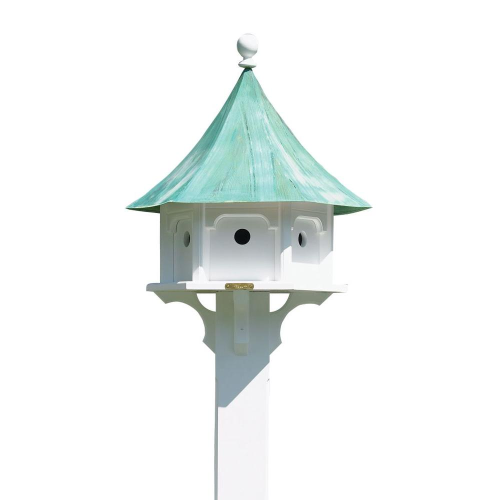Good Directions Lazy Hill Farm Designs Carousel Birdhouse With Blue Verde Copper Roof 43406 Copper Roof Bird House Feeder Bird Houses