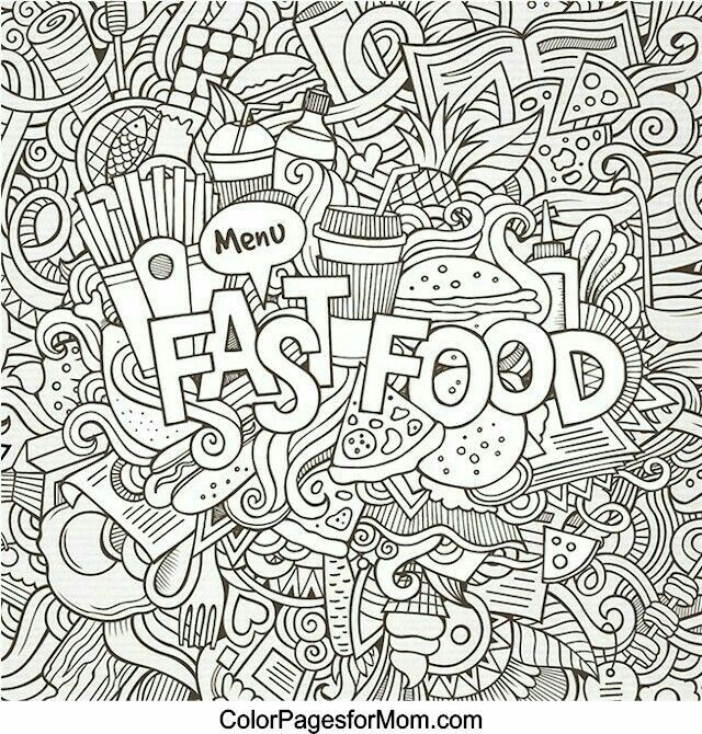 Pin By Kelley Ketchum On Color With Images Mandala Coloring Pages Food Coloring Pages Doodle Coloring