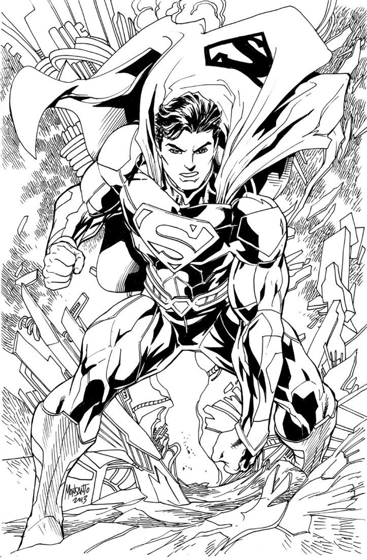 Superman New 52 Superman Coloring Pages Comic Book Art Style Superhero Coloring Pages