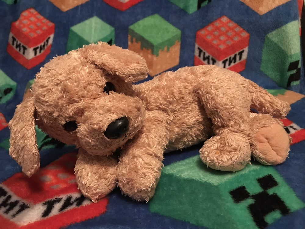 Ty Classic Skippy 2001 Golden Retriever Yellow Dog Plush Stuffed