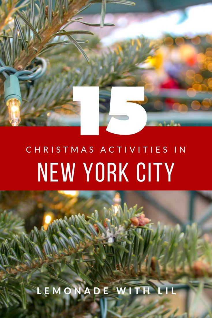 Christmas in New York is beautiful and there are SO many things to do! Make sure your NYC holiday bucket list is ready to go so you don't miss anything!  #newyorkcity #christmasinnewyork #nyc #christmasbucketlist