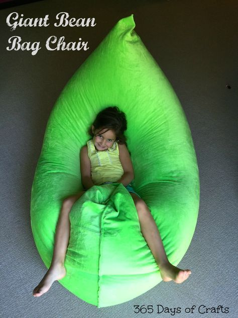 Giant Bean Bag Chair DIY - tips on how to fill a beanbag without making a mess. & Make a Fatboy Inspired bean bag chair | Pinterest | Bean bag chair ...