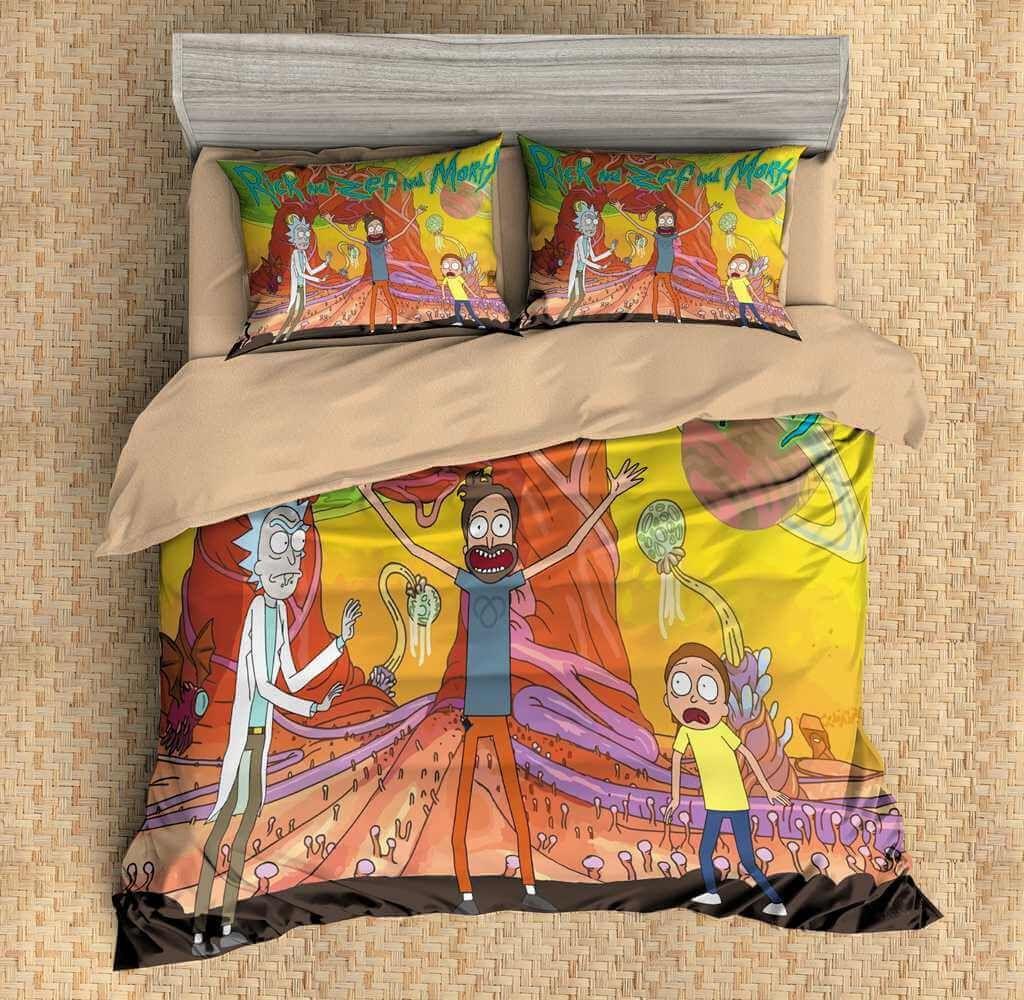 3d Customize Rick And Morty Bedding Set Duvet Cover Set Bedroom Set