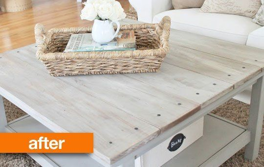 "Before & After: ""Barnwood"" Coffee Table IKEA Hack — City Farmhouse"