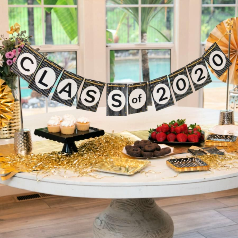 The perfect table centerpiece for your graduate! Do right by the Class of 2020 with the gorgeous party decoration that's reusable for other occasions.