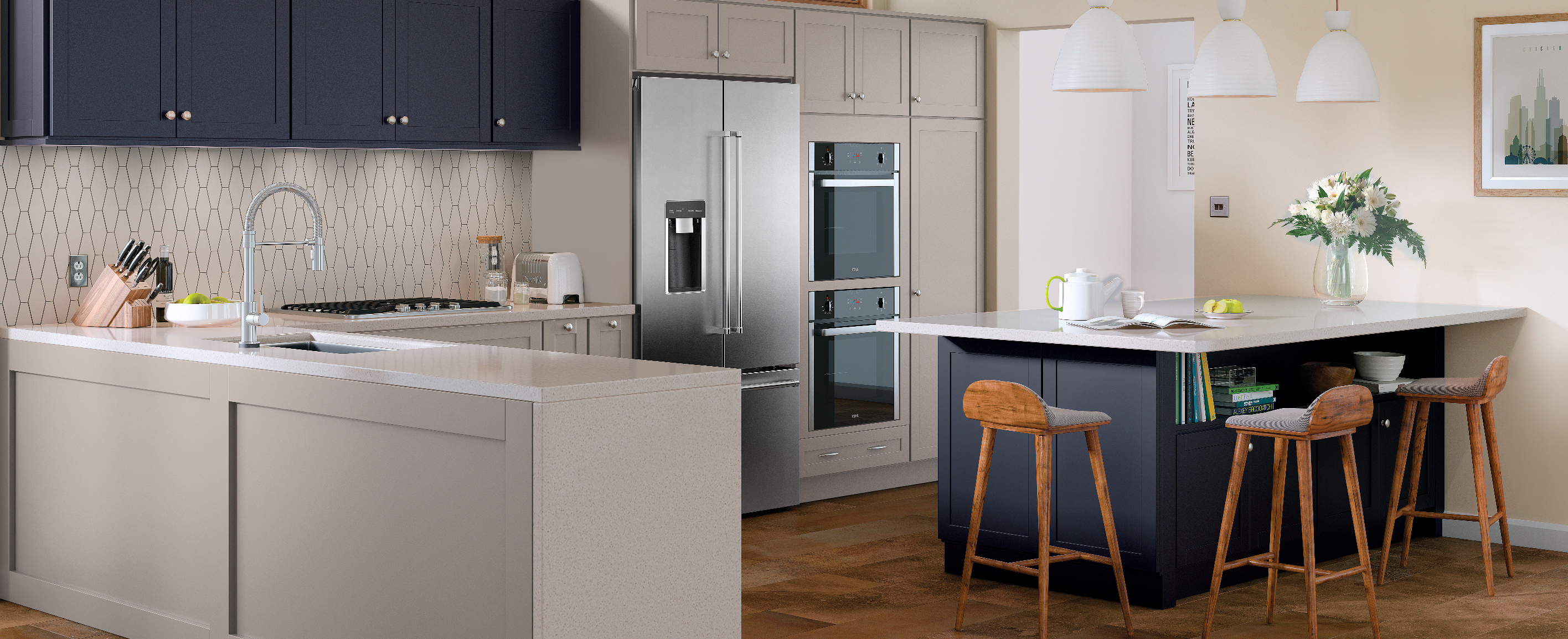 New Cabinet Colors At A Great Price Point Quality Has Now Introduced The Perfect Shade Of Navy Blue It S A Great Pop Of Color F With Images New Cabinet Cabinetry Kitchen