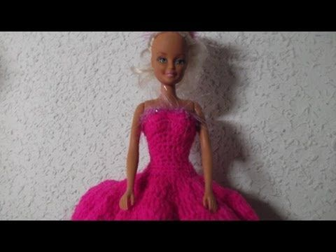Tutorial Crochet Clothes Pattern Free For Barbie Doll Cara Pola