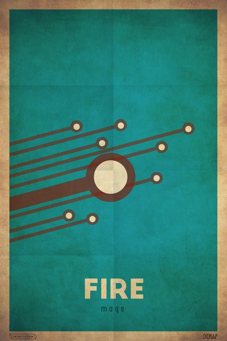 Fire Mage #Poster
