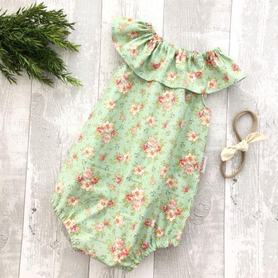 Playsuits de bebé de la braga bebé cuello bebé niña