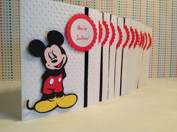 Handmade Mickey Mouse Birthday Invitations disney invitation – Handmade Mickey Mouse Birthday Invitations