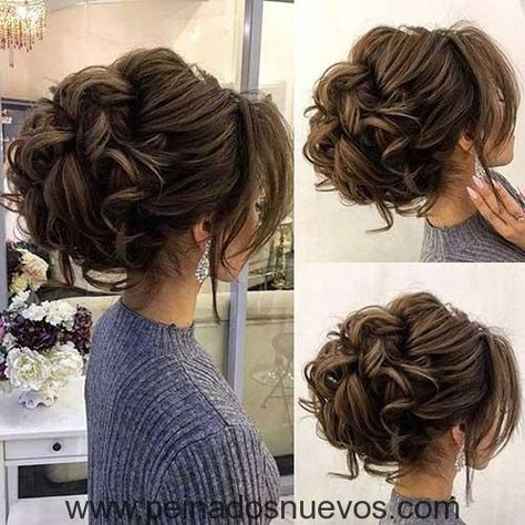 Rizado Peinado Estilo Peinados Elegantes Peinados Con Pelo Recogido Peinado De Novia Recogidos