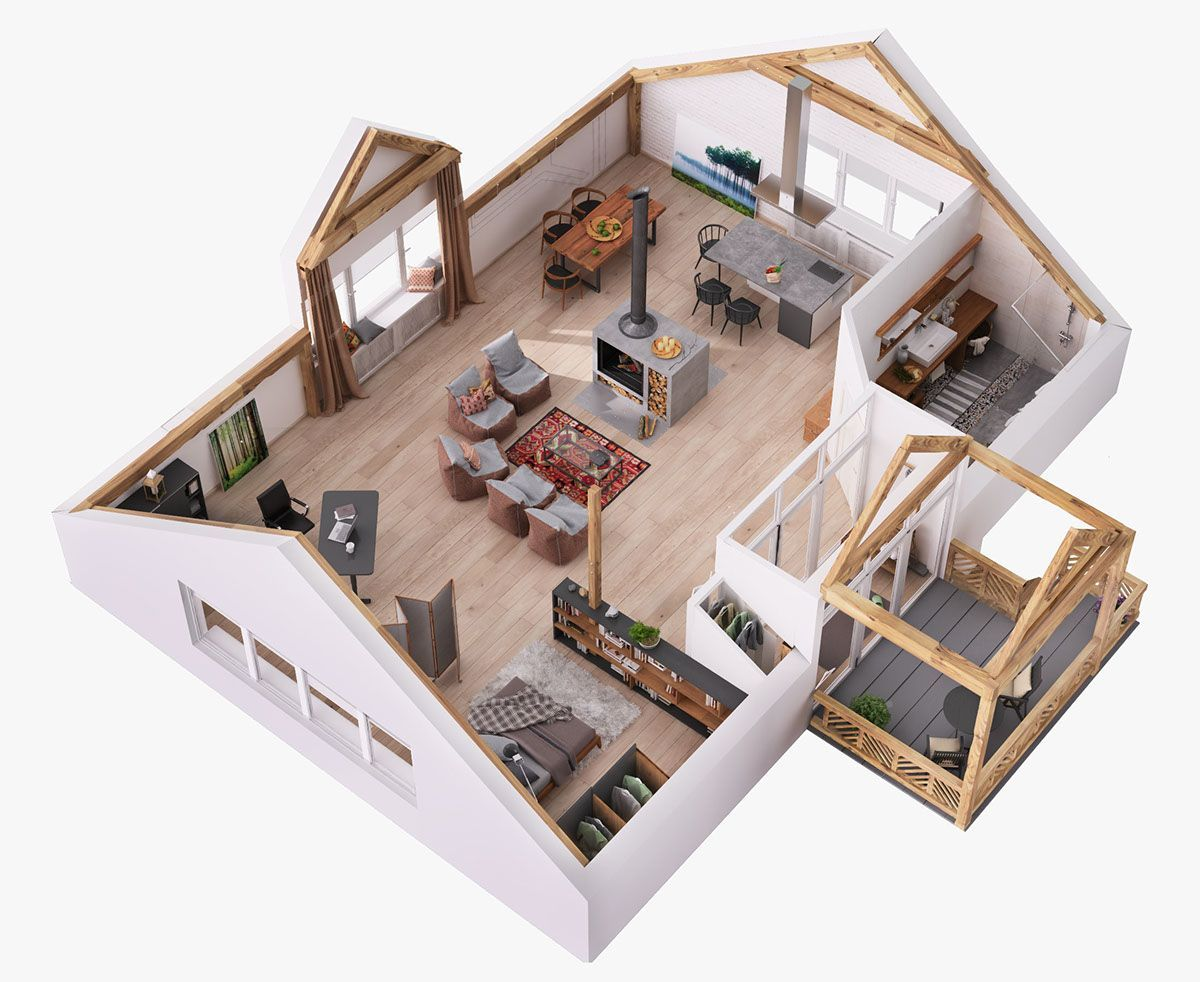 10 Conscious Simple Ideas Attic Vintage Mixed Media Attic Decor Angled Ceilings Attic Living Indoor Hammo Unique House Design House Layouts Home Layout Design