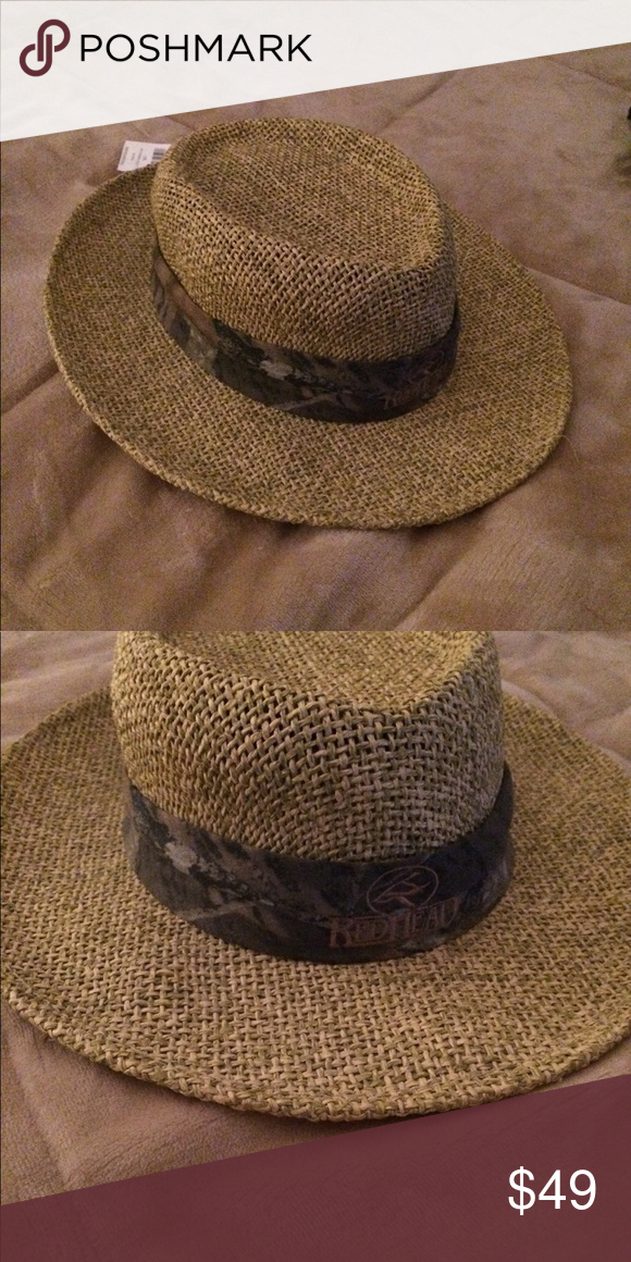 Authentic Redhead Soft Straw Weave Hat Size L Xl Hat Sizes Straw Hats