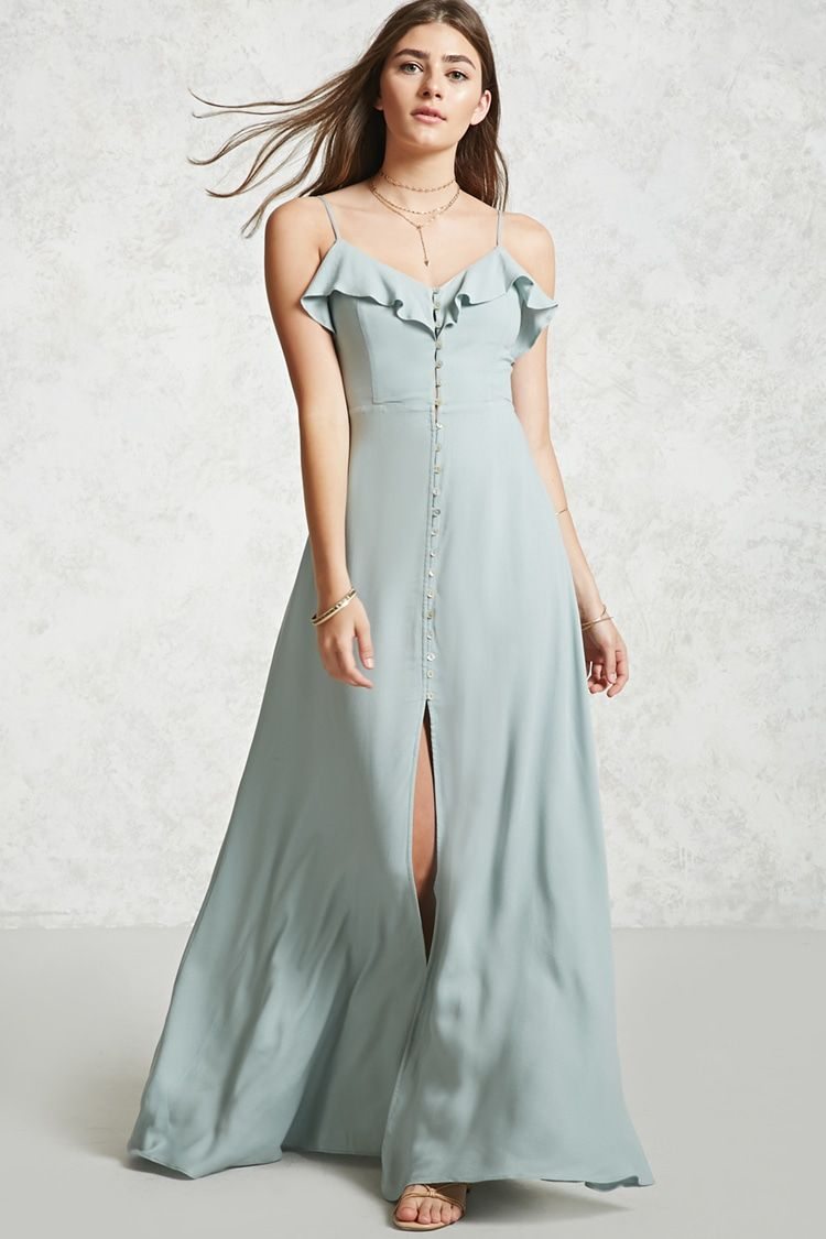 Style deals a woven maxi dress featuring a front buttonup closure