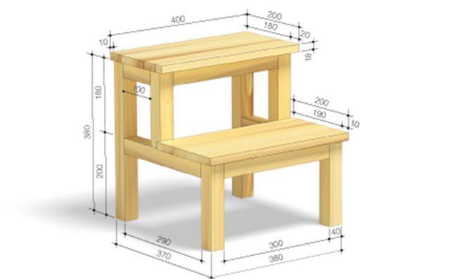 Holztritt Selber Bauen Hocker Hocker Holz Diy Mobel Ideen