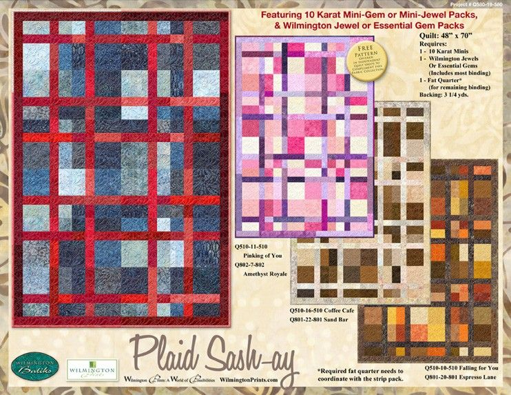 Gems, Jewels, & Crystals - Plaid-Sash-ay Project - REVISED 7/1/16