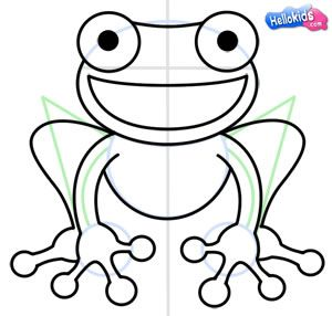 How To Draw Frog Step9 Frog Drawing Red Eyed Tree Frog Frog Art