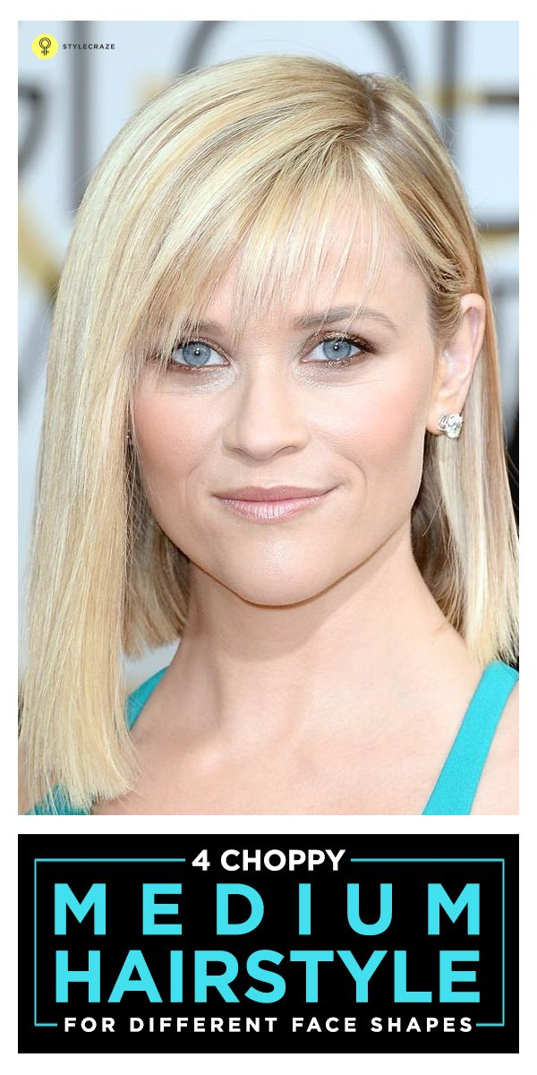 4 Choppy Medium Hairstyles For Different Face Shapes Pinterest
