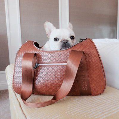 Tucker Murphy Pet Kristopher Graphite Duffle Pet Carrier Color Brown Dog Carrier Bag Pet Carriers