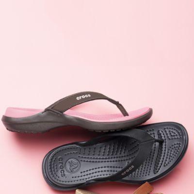 8c9d2a8f12663 Crocs® Women's 'Capri IV' Suede Leather Flip-Flop Sandal - Sears ...