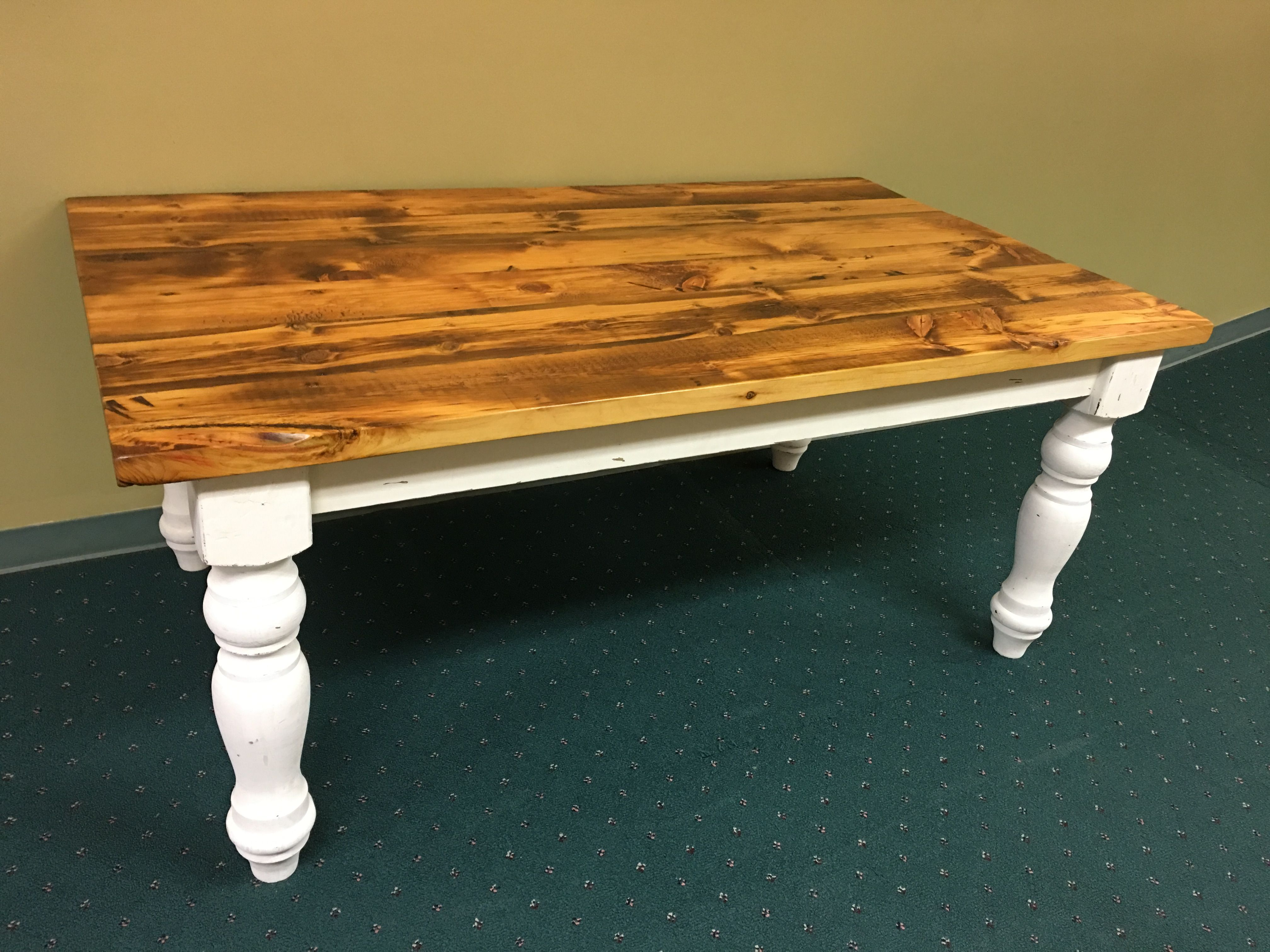 reclaimed pine farmhouse farm table turned legs distressed on fantastic repurposed furniture projects ideas in time for father s day id=82964