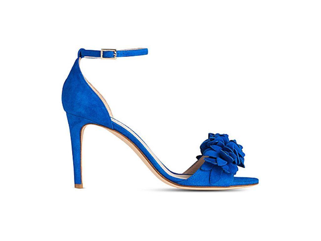 LK BENNETT Claudie flower-embellished suede sandals