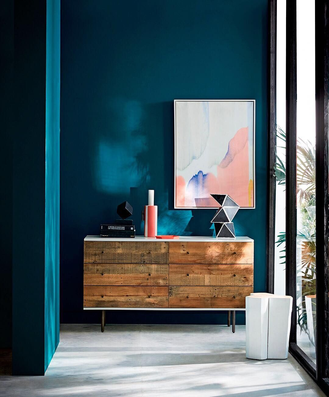 Moody Deep Blue Green Check Out The West Elm Sherwin Williams Paint Color Collection For Spring 17 This One Is Called Oceanside Regram Via Westelm
