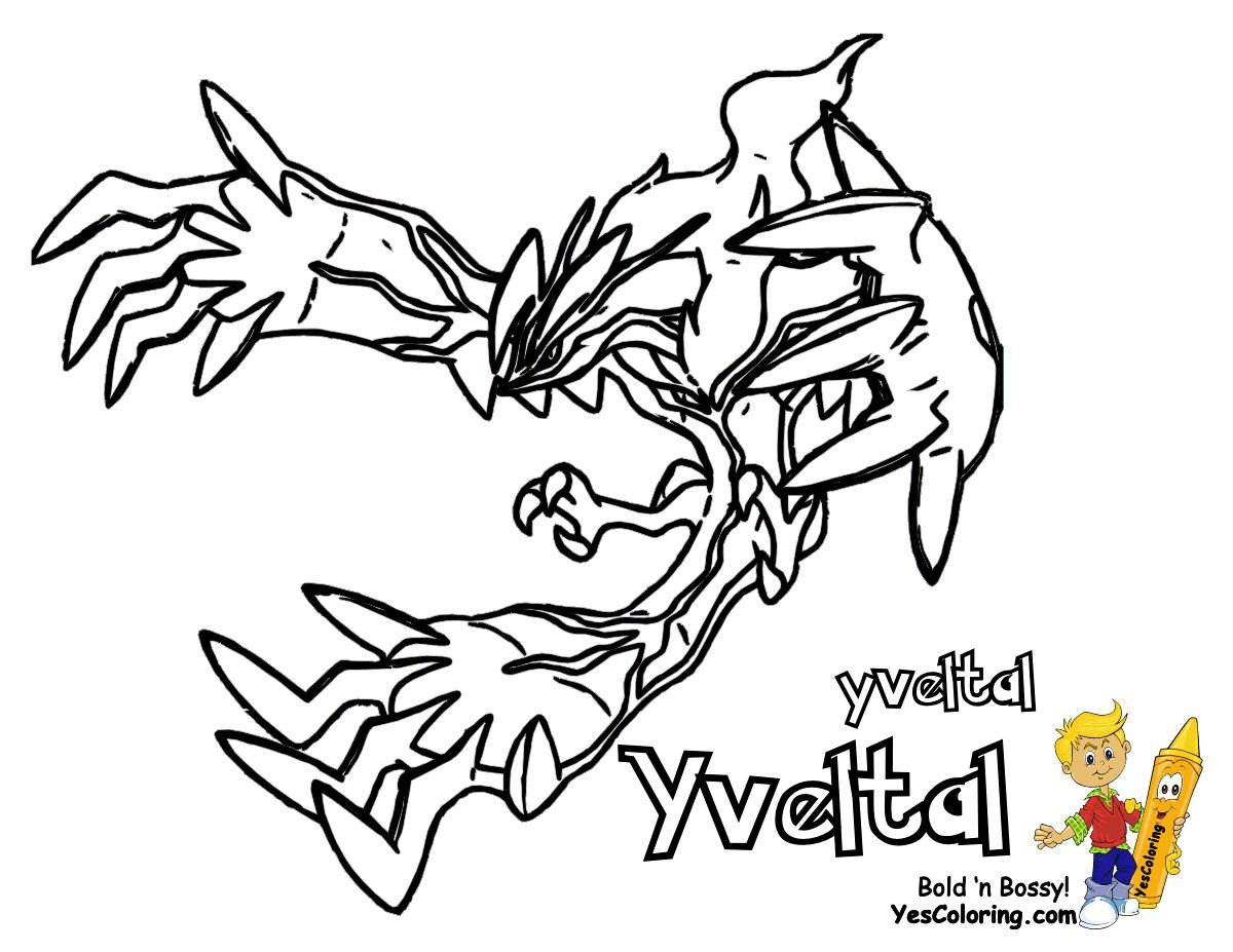Pokemon Coloring Page Of Yveltal Pokemon Coloring Coloring Pages