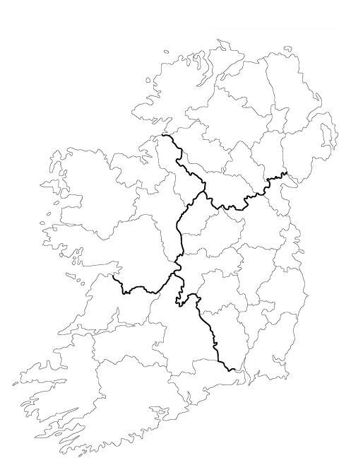 Blank Map Of Ireland Counties.Printable Province Map Of Ireland Google Search Quilting Bucket