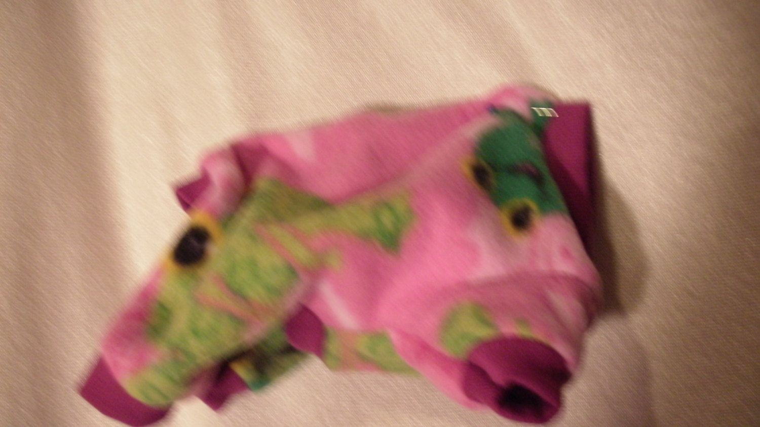 pretty pink xxs pjs with happy green frogs by FlyingPigsInc on Etsy