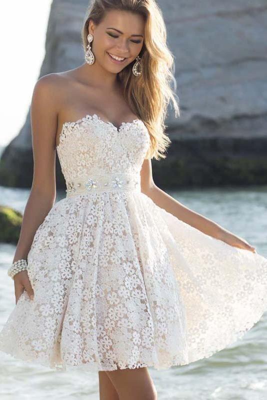 Pure Color Strapless Sleeveless Knee-length Dress  28cdf18cd