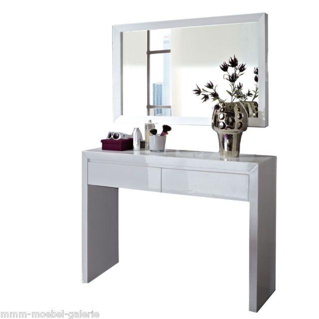 Neu schminktisch bank spiegel konsole kosmetiktisch for Schminktisch hochglanz